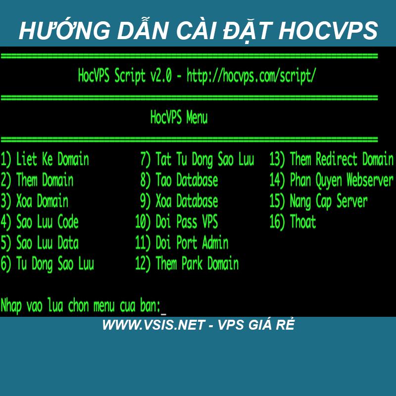 Hướng dẫn cài đặt Hocvps trên VPS gia rẻ