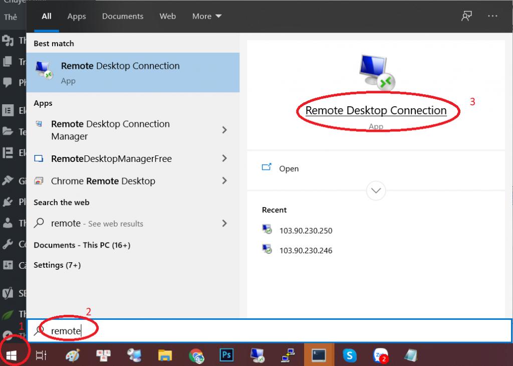 Hướng dẫn kết nối máy tính/điện thoại với VPS Windows
