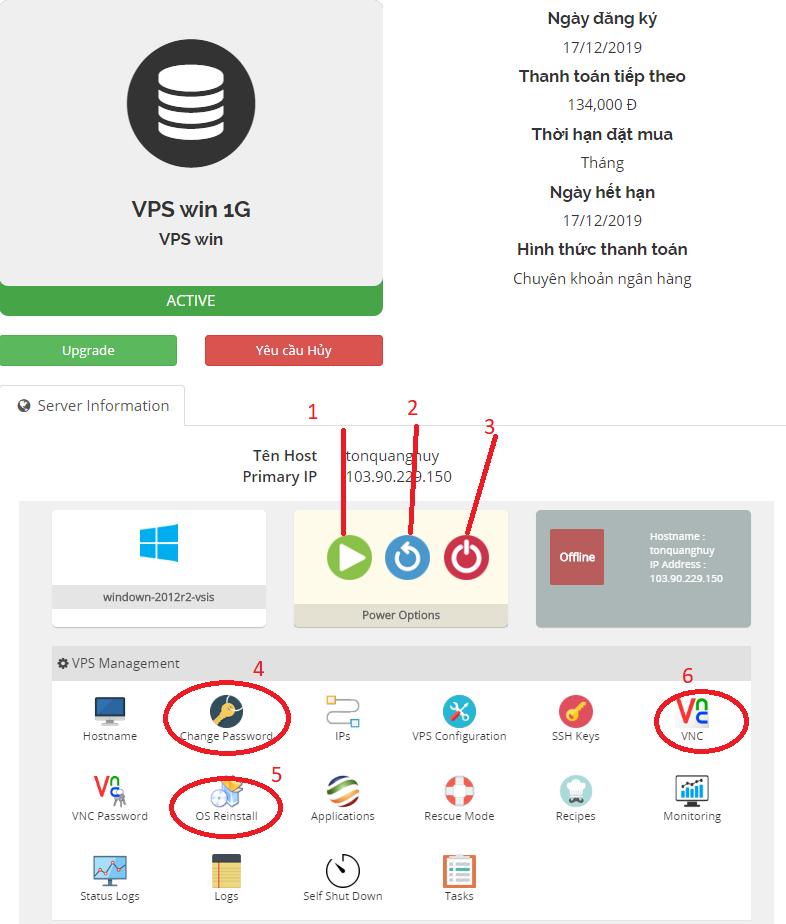 Hướng dẫn sử dụng VPS