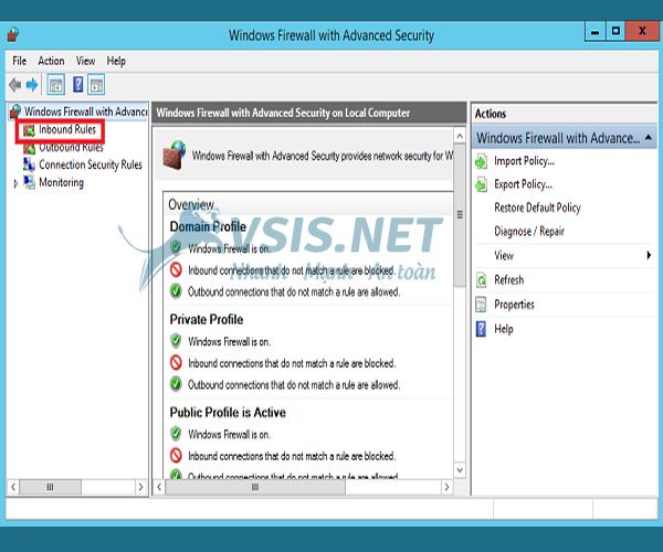 Hướng dẫn mở port trên VPS windows