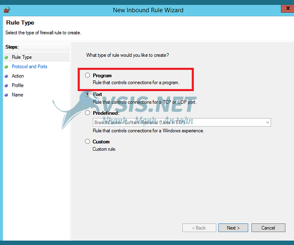 Hướng dẫn mở port cho VPS windows